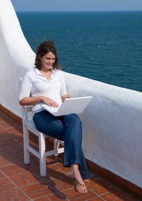 travel writer in the mediterranean