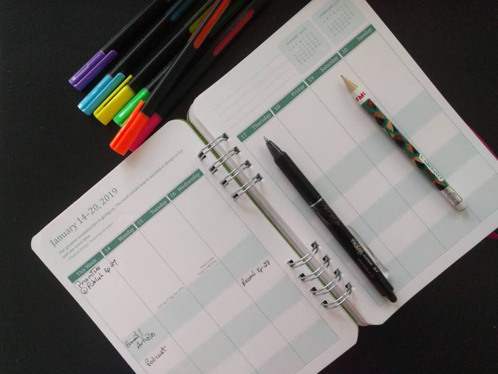 here's a picture of Susanna's planner