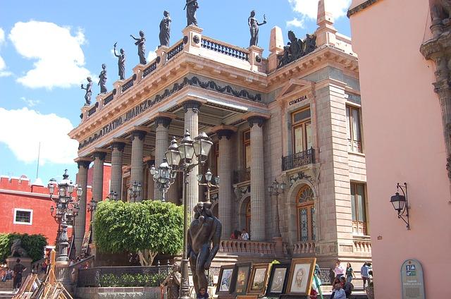 Juarez Theater in Guanajuato, Mexico
