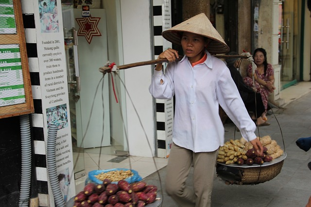 woman in Hanoi, Vietnam