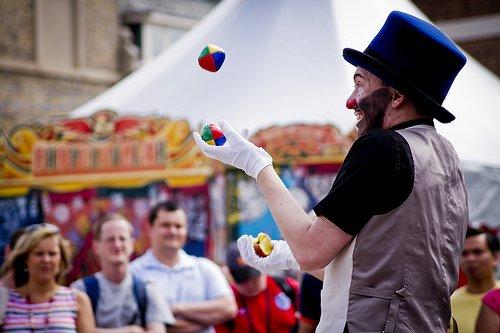 do you ever feel like a juggler at a fair